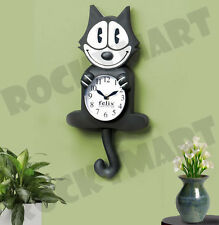 Felix The Cat Animated Pendulum ( CLOCK ) Eyes & Tail Move RM1234