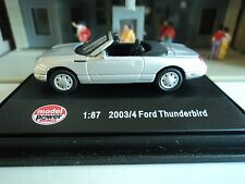 MODEL POWER  2003/04 FORD THUNDERBIRD  SILVER  CONVERTIBLE 1/87 HO  CAR DIE CAST