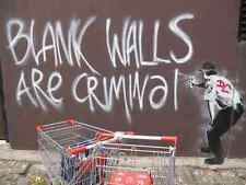 Banksy Blank Walls are Criminal A2 Box Canvas Print
