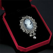 Fashion  Cameo Victorian Style crystal Wedding Party Women Pendant Brooch Pin