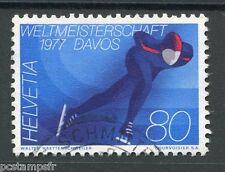 SUISSE 1976, timbre 1012, SPORT, PATINAGE de VITESSE, oblitéré