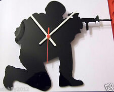 soldier army military,  style Clock - black 3mm Acrylic design2