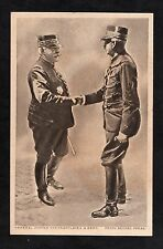 C1916 WWI View of General Joffre congratulates a French Officer