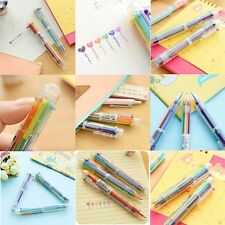 Stationery Multi-Color Ball-point Pen Colour 6 Color Ballpoint Pen Study Pen