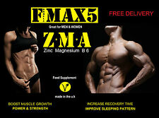 60 X ZMA Tablets Zinc Magnesium B6 Test Testosterone Booster Muscle Growth Pills