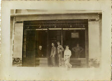 PHOTO ANCIENNE - VINTAGE SNAPSHOT - PHARMACIE OUVRIER TRAVAIL MENUISERIE REIMS