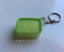 Tupperware Baseline Canister Keychain Green NEW