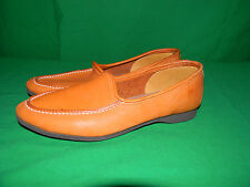SKAMPS VINTAGE 70s SMOKING SLIPPER 9 N CARAMEL BROWN DEER SKIN LOAFERS 9