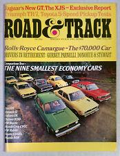 Road & Track Magazine 1975 NRMT VINTAGE AUTOMOBILE MAY HONDA CIVIC ECONOMY CARS