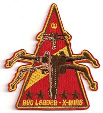 "Star Wars Red Leader X-Wing Squadron Logo 3.75"" Patch-FREE S&H (SWPA-FC-25)"