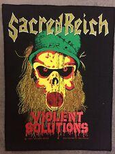 Sacred Reich Violent Solution Back patch , Megadeth , Black Sabbath , Exumer , D