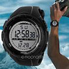 Automatic Men Rubber Sport Wristwatch LCD Digital Outdoor Watch Waterproof Black