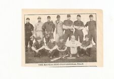The Manila Semi-Professional Baseball 1912 Team Picture