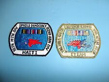 b4517 Haiti 10th Mountain Div 82nd Airborne Div Uphold Democracy patch