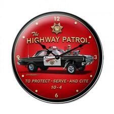 Hot Rod Drag Race Police Patrol Car Metal Clock Man Cave Garage Body Shop lg469