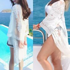NEW Women Bathing Suit Sexy Lace Crochet Bikini Swimwear Cover Up Beach Dress