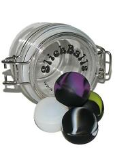 Set Of 4 Slick Ball Non-Stick Minis From Oil Slick Concentrate Container Purple