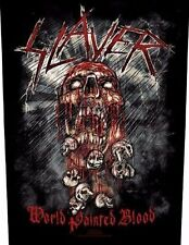 SLAYER - World painted blood Rückenaufnäher Backpatch