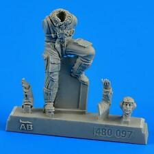 AeroBonus 1:48 WWII German Luftwaffe Pilot Bf 109 Late Resin FIgure Kit #480097