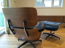 Plywood Lounge Chair and Ottoman REAL WALNUT Wood Premium High Grade PU Leather