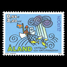 Aland 2001 - EUROPA Stamps Art - Sc 187 MNH