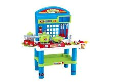 "28"" Deluxe Kitchen Play Set With Light Sound & Appliances For Kids New"