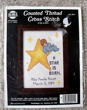 NIP NMI A Star Is Born Sleeping Baby Birth Announcement Counted Cross Stitch Kit