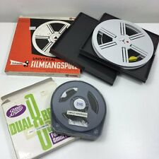 2 X VINTAGE 8MM FILM - 70's FAMILY ENTERTAINERS MOVIES - SCHNEIDER REEL CAN BOX