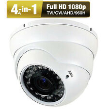 "HD-TVI 2.6MP 1080P 1/2.7"" CMOS Sony CCD CCTV Varifocal Lens Dome Security Camera"