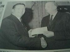 1967 football item - jock stein celtic and frank pope dumbarton clockmaking