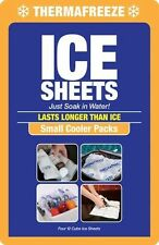 ThermaFreeze~Small Cooler Pack~4 Reusable 4x3 Ice Sheets+1 FREE Sheet~Lunch Box