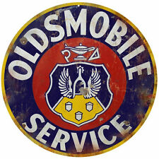 Oldsmobile Service Station Reproduction Round Sign