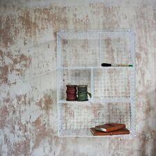 Rétro vestiaire blanc panier étagère fil unité de rangement cuisine salle de bain armoire