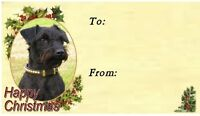 Patterdale Terrier Christmas Labels by Starprint - No 1