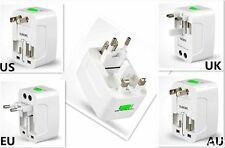 1pk Universal All In One Power Adapter Wall Charger Socket Travel Plug Converter