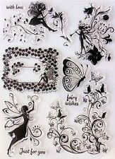 Fairy Fata e Farfalla Wishes chiaro aggrapparsi Stamp Set