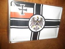 Blechschild Deutsches Kaiserreich ca. 20x 30 cm gross gewölbt