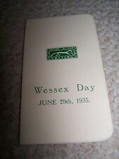 Wessex Day Dance Card-1935
