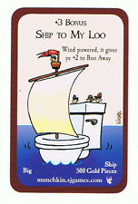 Munchkin Booty Ship To My Loo Promo Card Steve Jackson Games John Kovalic Art