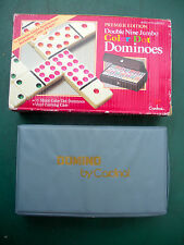 """Double Nine Jumbo """"Cardinal"""" """"Premiere Edition"""" 'COLORDOT' DOMINOES - 55 Pieces"""