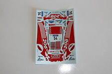 DECALS 1/43 PEUGEOT 206 S1600 COLS RALLYE ESPAGNE CATALOGNE 2001 WRC RALLY