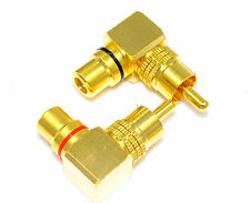 10 pcs RCA Audio Plug to Jack 1 Male to 1 Female Connector High end E0524 USA