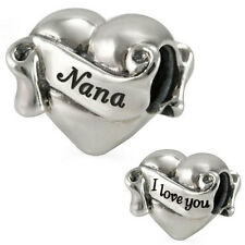 I Love You Nana Genuine Solid Sterling Silver Charm OHM Bead AAL008