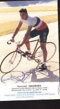 LAURENT SIKORSKI cyclisme ciclismo Signée CHAMPION de FRANCE autographe Cycling