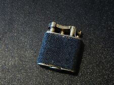 DUNHILL Unique Shagreen Lighter with Gold Plate Very Good used Condition