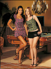 Shirley of Hollywood Women's Pink Plaid Corset Top Size Small