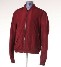NWT BURBERRY BRIT 'Brentfield' Crimson Burgundy Windbreaker Jacket XL Modern-Fit