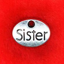"""6 x plaque Oval Argent Tibétain """"soeurs"""" Charme Pendentif fabrication de bijoux"""