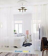 "~~2 x NEW IKEA LILL SHEER  PANELS WHITE CURTAINS EACH PANELS SIZE 110X98""~~"