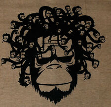 Banksy Monkey Sneak Head Guys Indie T-Shirt Graffiti Medusa L